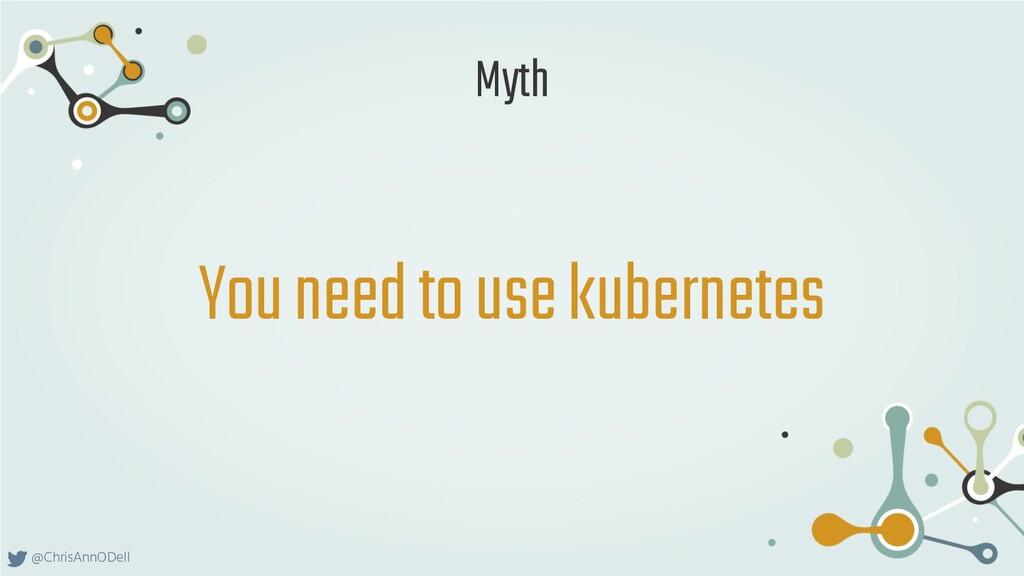 @ChrisAnnODell You need to use kubernetes Myth