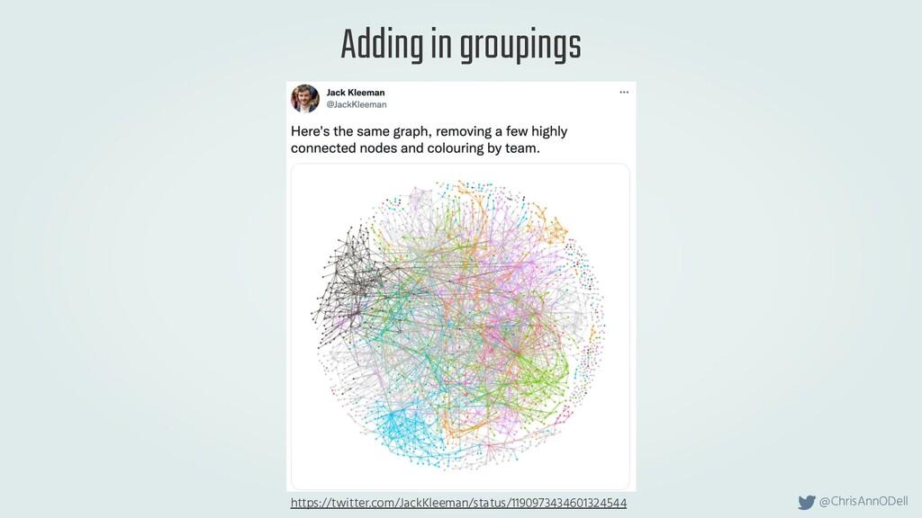 @ChrisAnnODell Adding in groupings https://twit...