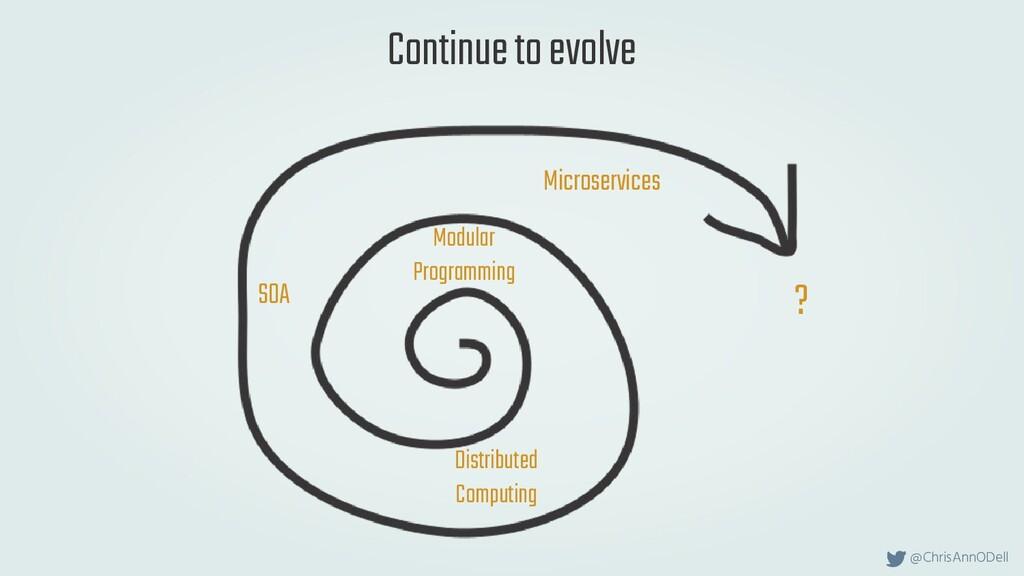 @ChrisAnnODell Continue to evolve Modular Progr...