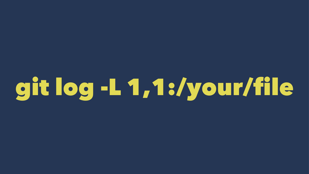 git log -L 1,1:/your/file