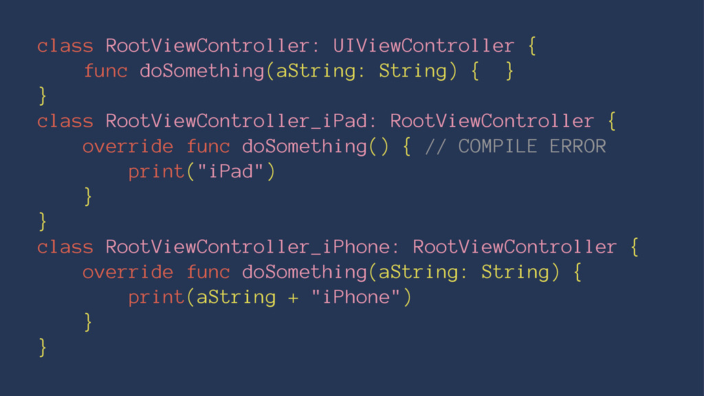 class RootViewController: UIViewController { fu...