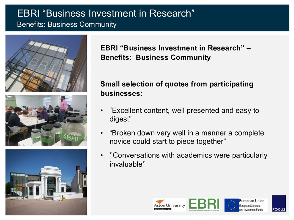 """EBRI """"Business Investment in Research"""" – Benefi..."""