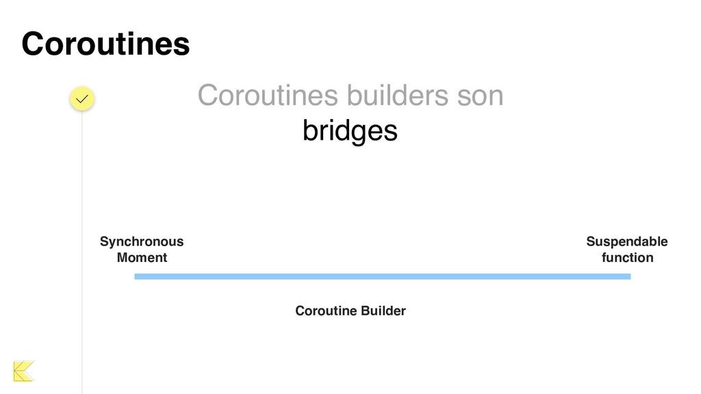 Coroutines Coroutines builders son bridges Sync...