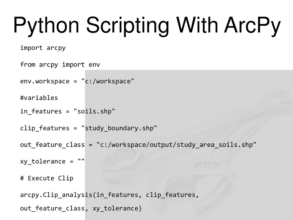 Python Scripting With ArcPy import arcpy from a...