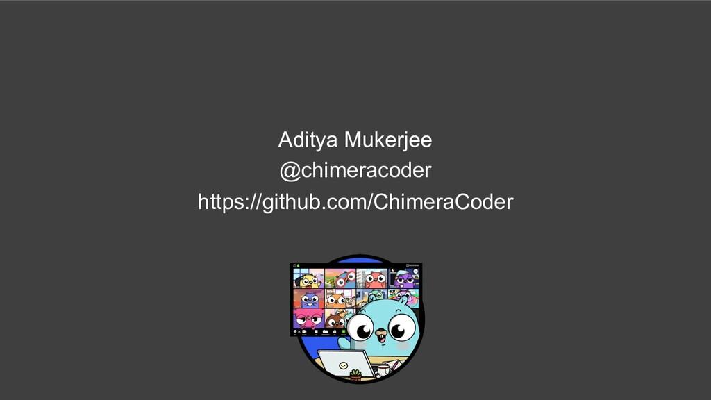 Aditya Mukerjee @chimeracoder https://github.co...