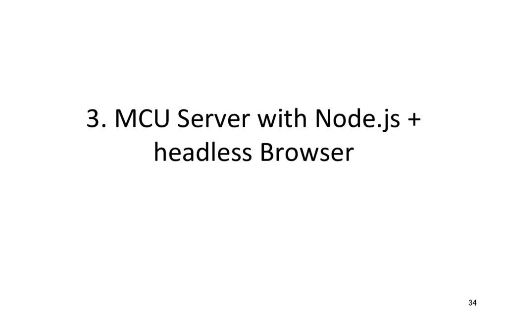 3. MCU Server with Node.js + headless Browser 34