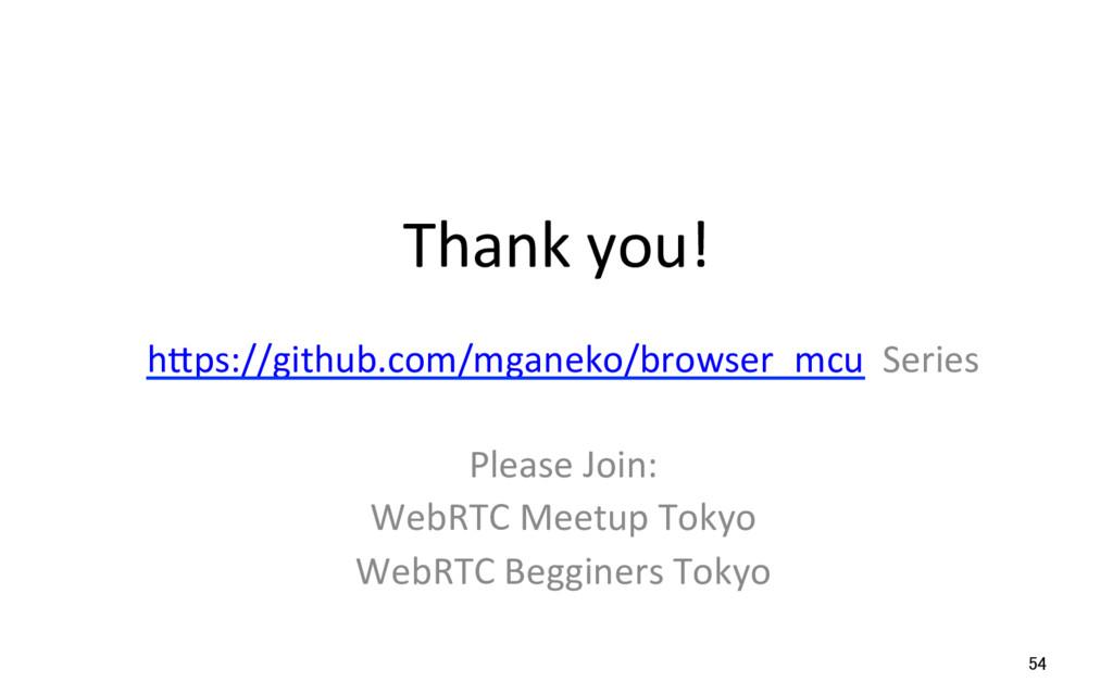Thank you! 54 hSps://github.com/mganeko/browser...