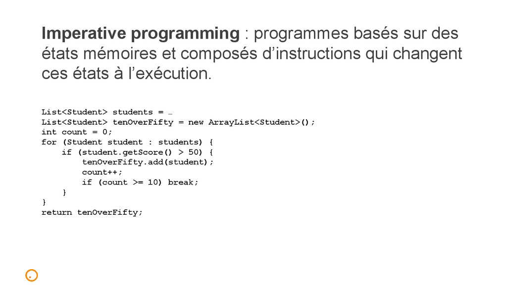 Imperative programming : programmes basés sur d...