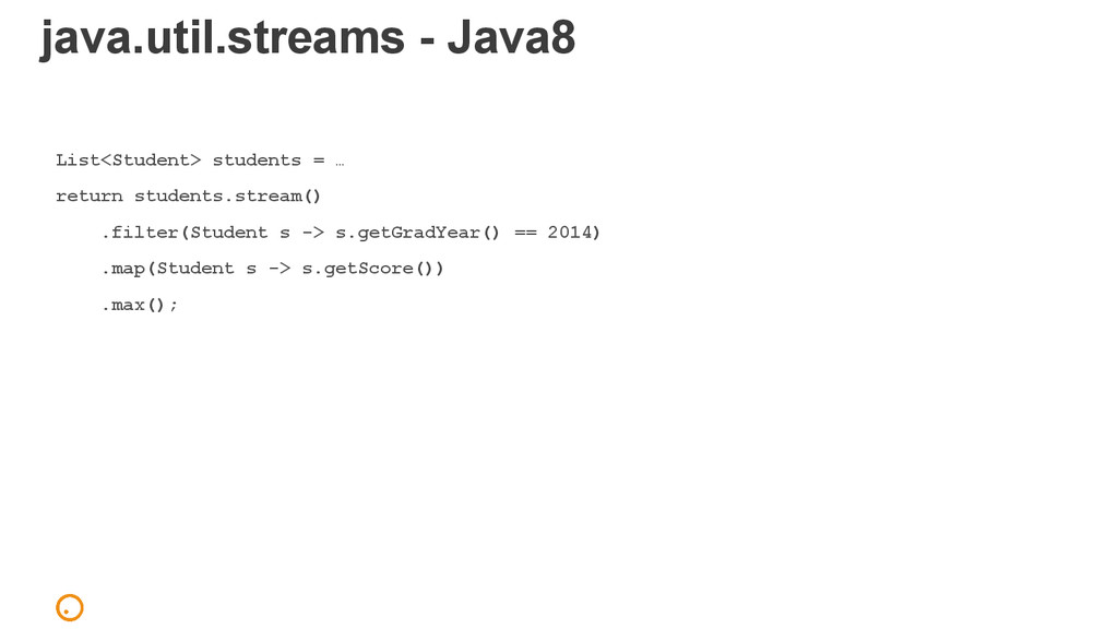 java.util.streams - Java8 List<Student> student...