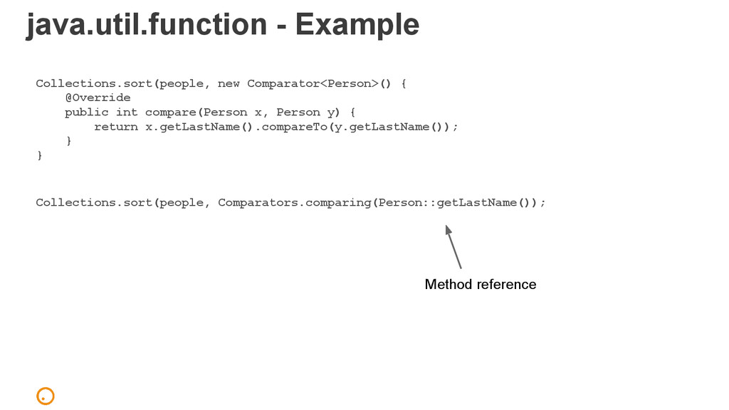 java.util.function - Example Collections.sort(p...
