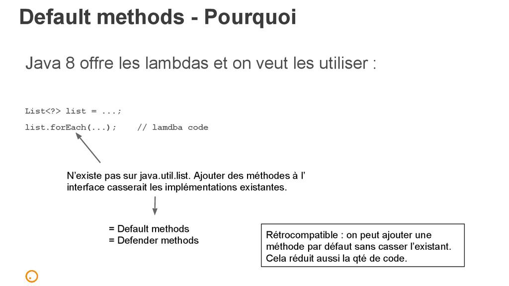 Default methods - Pourquoi Java 8 offre les lam...