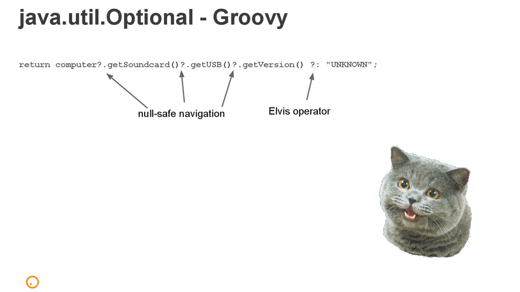 java.util.Optional - Groovy return computer?.ge...