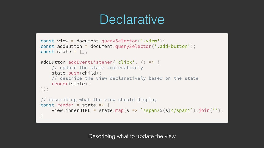 Declarative const const view view = = document ...