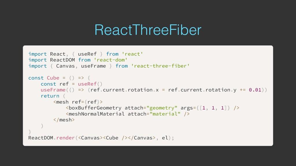 ReactThreeFiber import import React React, , { ...