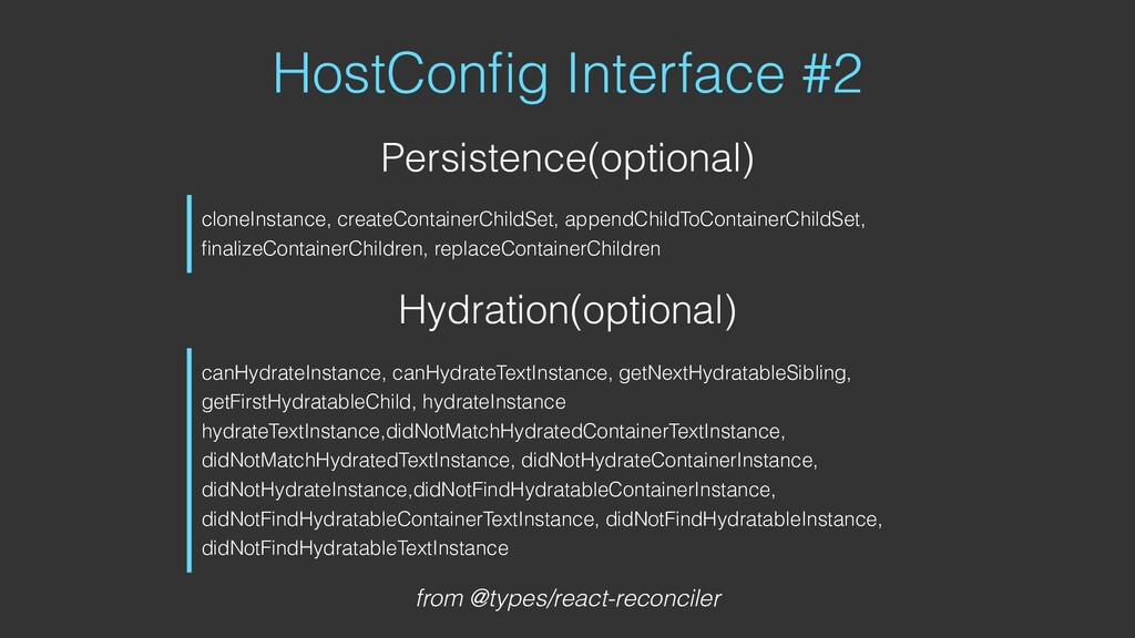 HostConfig Interface #2 Persistence(optional) Hy...