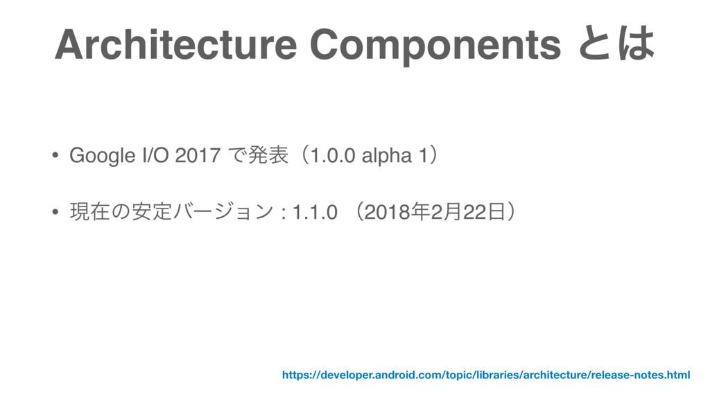 Architecture Components ͱ • Google I/O 2017 Ͱൃ...