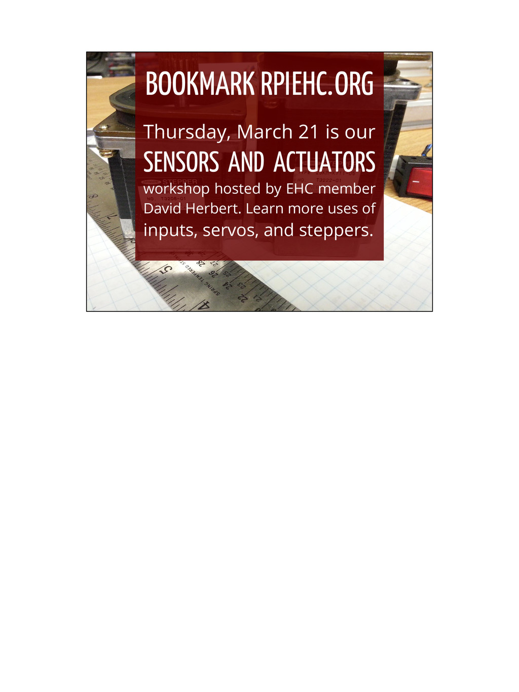 BOOKMARK RPI EHC. ORG Thursday, March 21 is our...