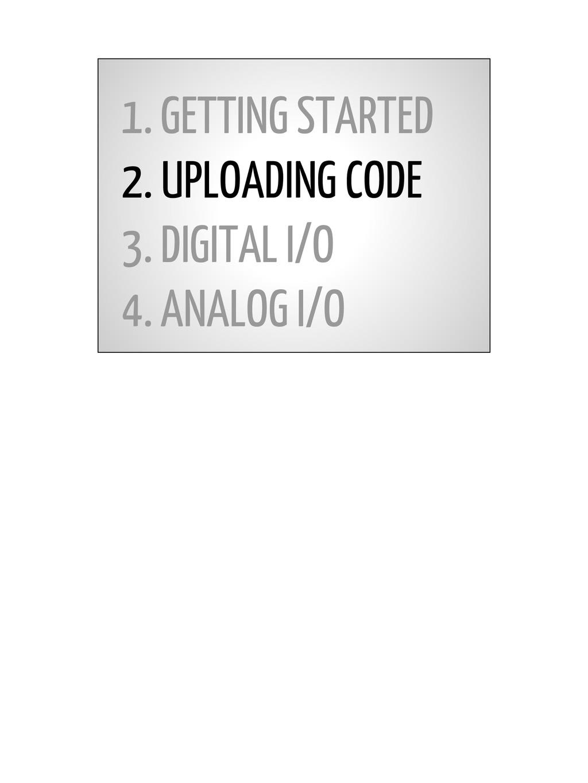 1. GETTING STARTED 2. UPLOADING CODE 3. DIGITAL...