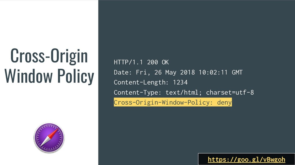 Cross-Origin Window Policy https://goo.gl/vBwgo...