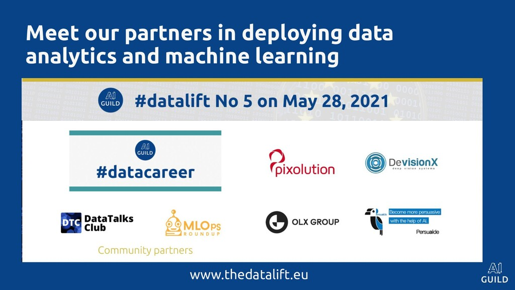 Meet our partners in deploying data analytics a...