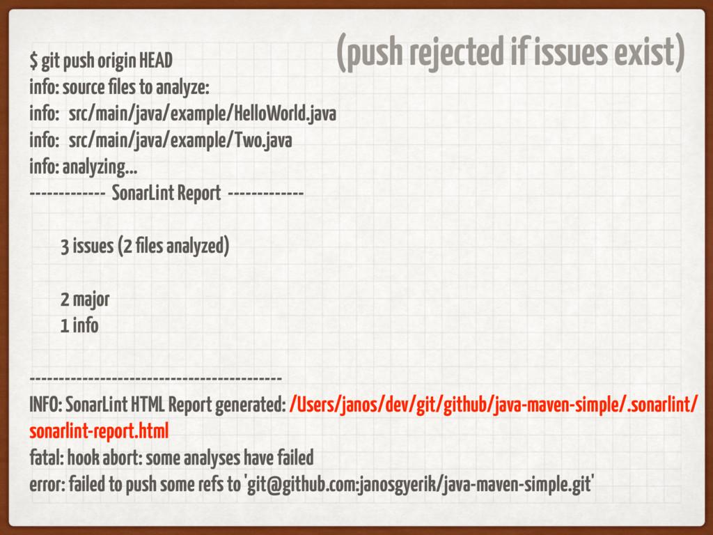 $ git push origin HEAD info: source files to ana...