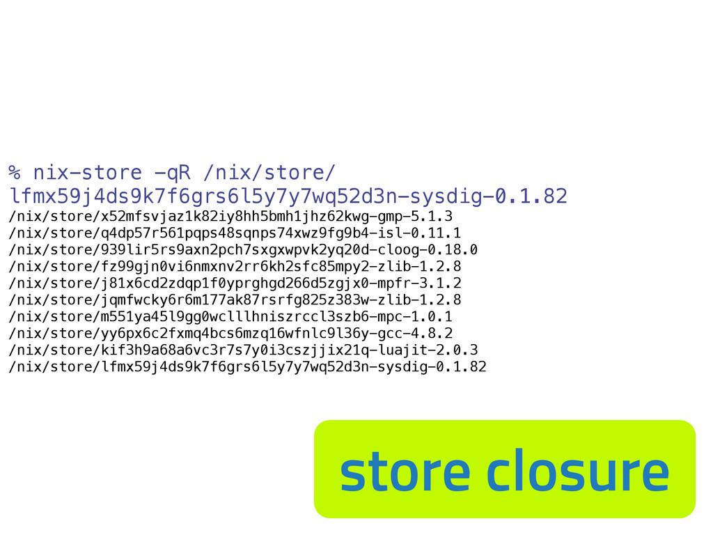 % nix-store -qR /nix/store/ lfmx59j4ds9k7f6grs6...