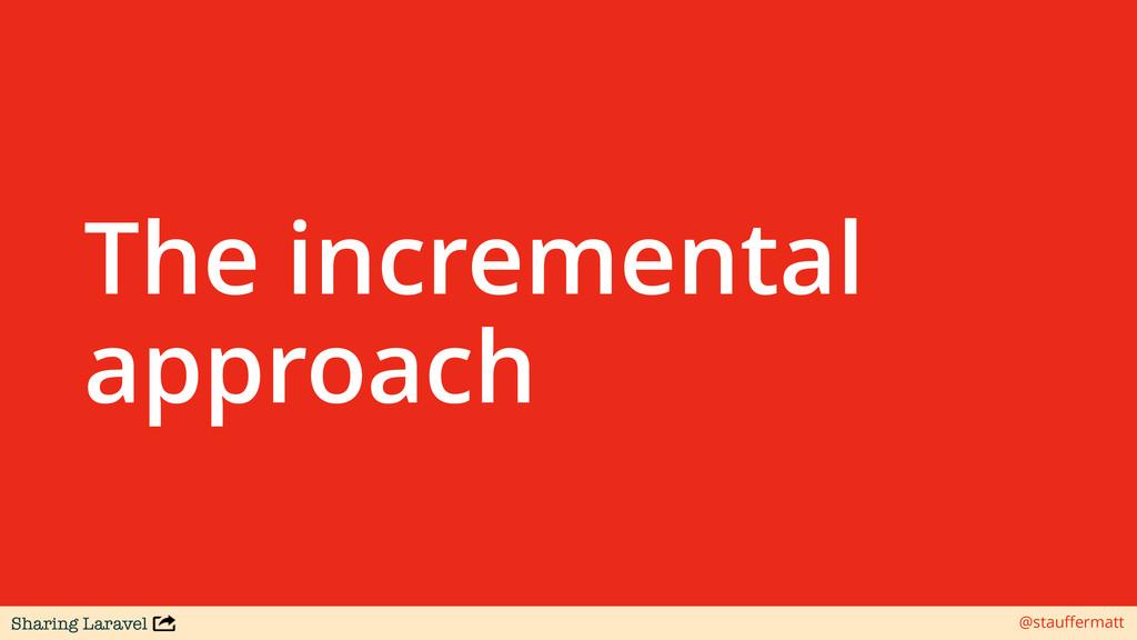 Sharing Laravel @stauffermatt The incremental ap...
