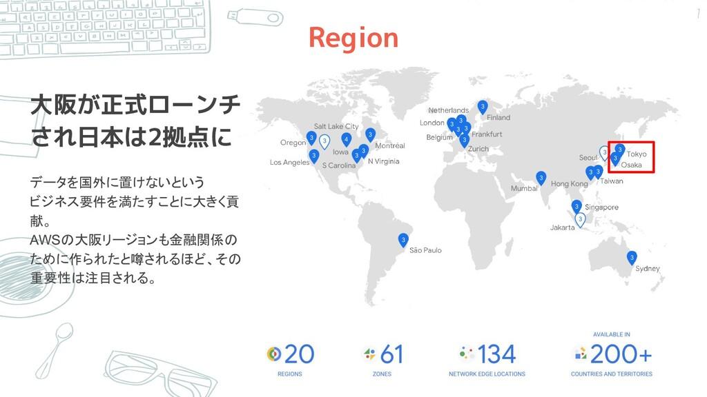 Region 大阪が正式ローンチ され日本は2拠点に データを国外に置けないという ビジネス要...