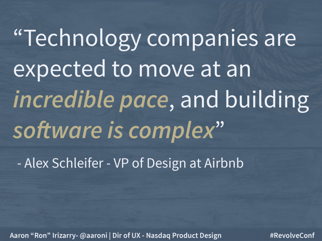 """""""Technology companies are expected to move at a..."""