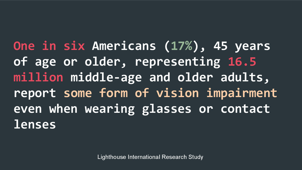 One in six Americans (17%), 45 years of age or ...