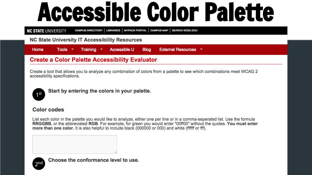 Accessible Color Palette