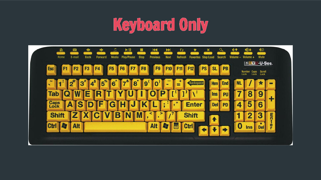 Keyboard Only