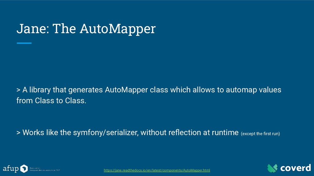 Jane: The AutoMapper > A library that generates...