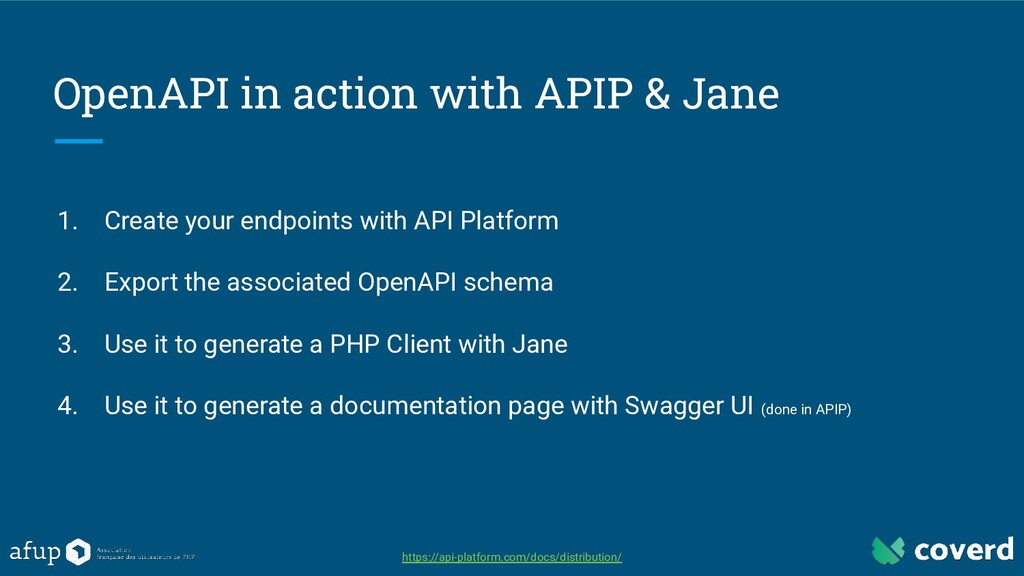 OpenAPI in action with APIP & Jane 1. Create yo...