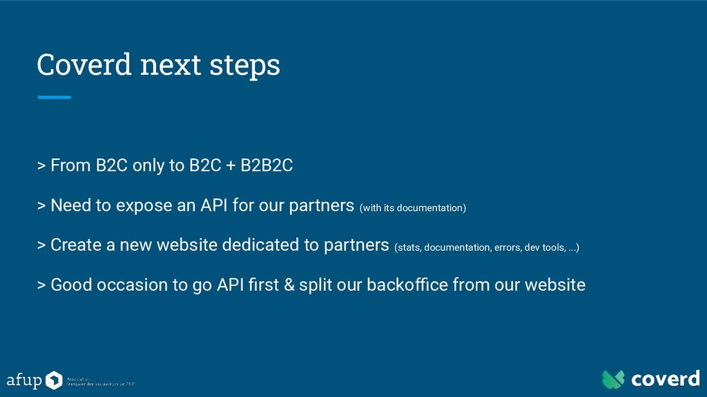 Coverd next steps > From B2C only to B2C + B2B2...
