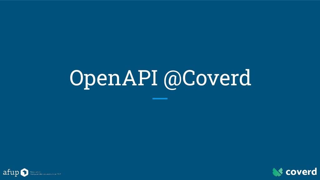 OpenAPI @Coverd