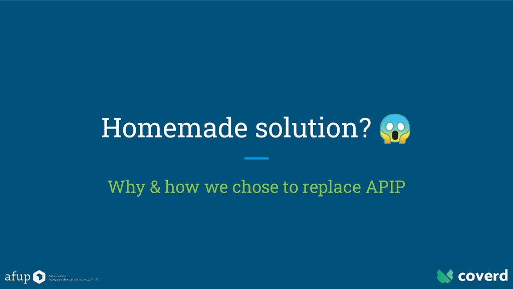 Homemade solution?  Why & how we chose to repla...