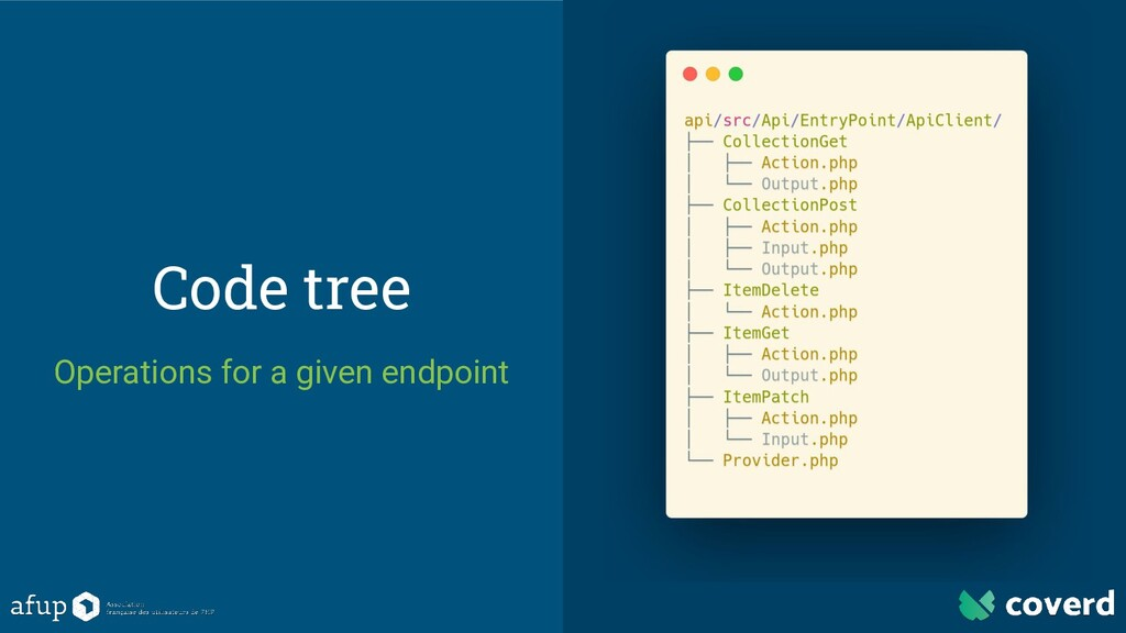Code tree Operations for a given endpoint