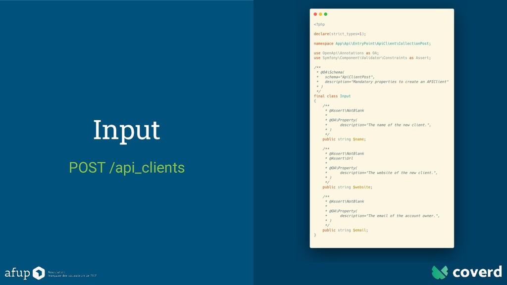 Input POST /api_clients