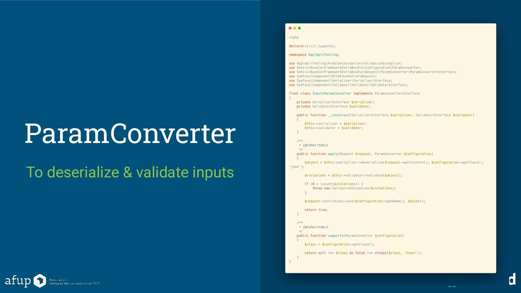 ParamConverter To deserialize & validate inputs