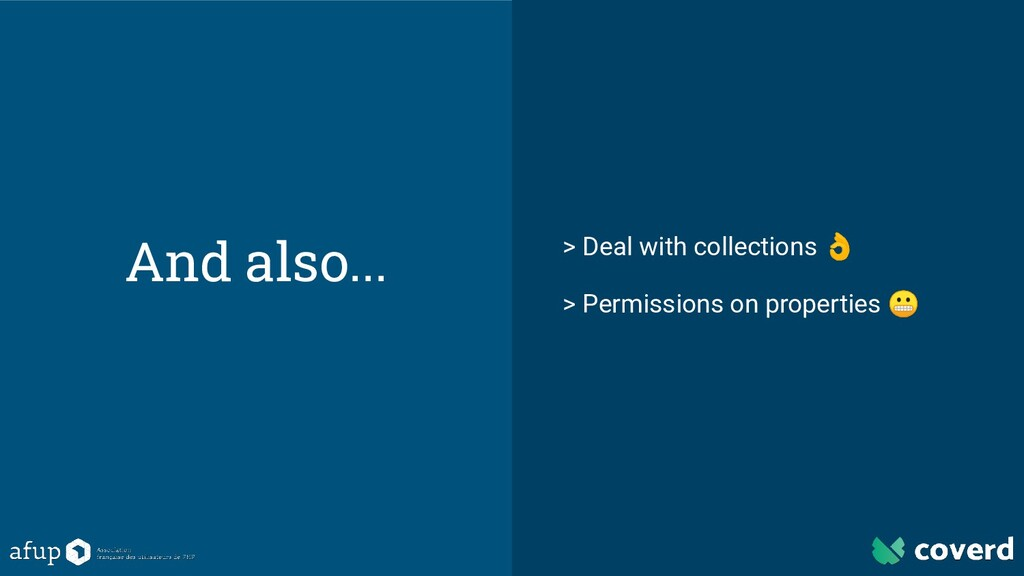 And also... > Deal with collections  > Permissi...