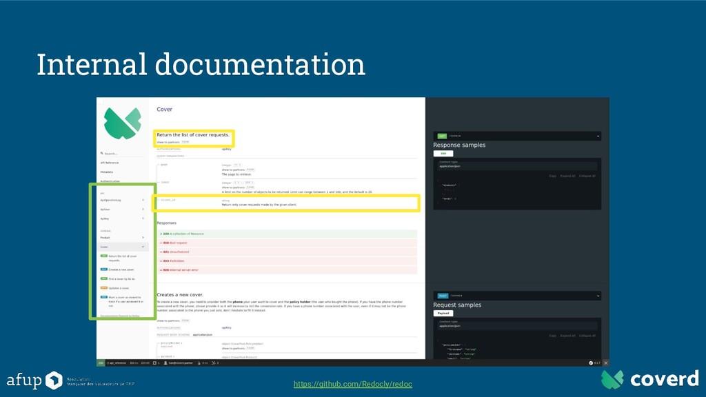 Internal documentation https://github.com/Redoc...