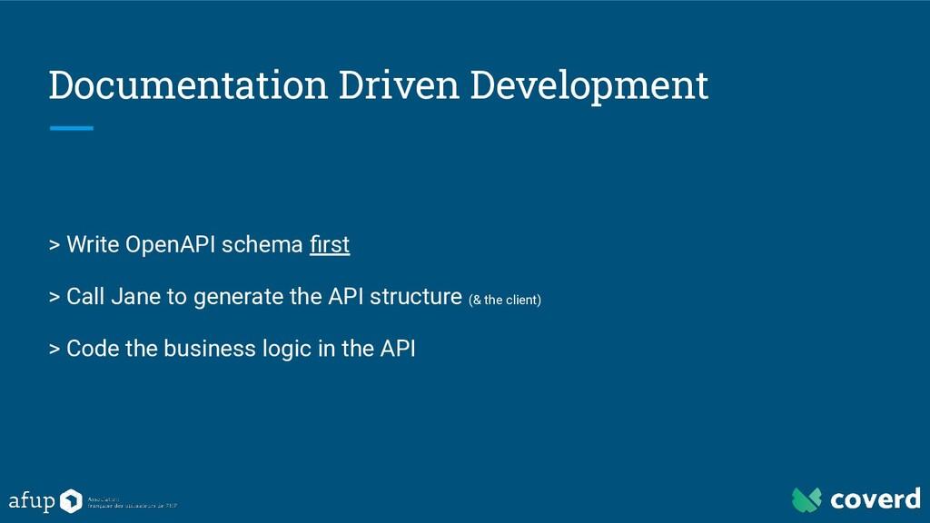 Documentation Driven Development > Write OpenAP...