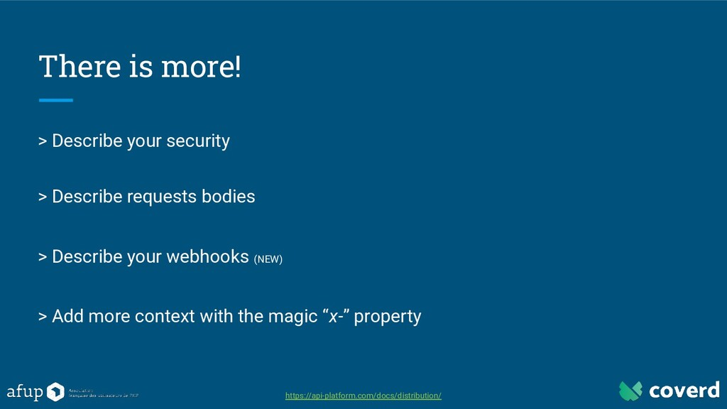 There is more! > Describe your security > Descr...