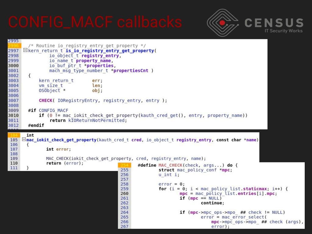CONFIG_MACF callbacks