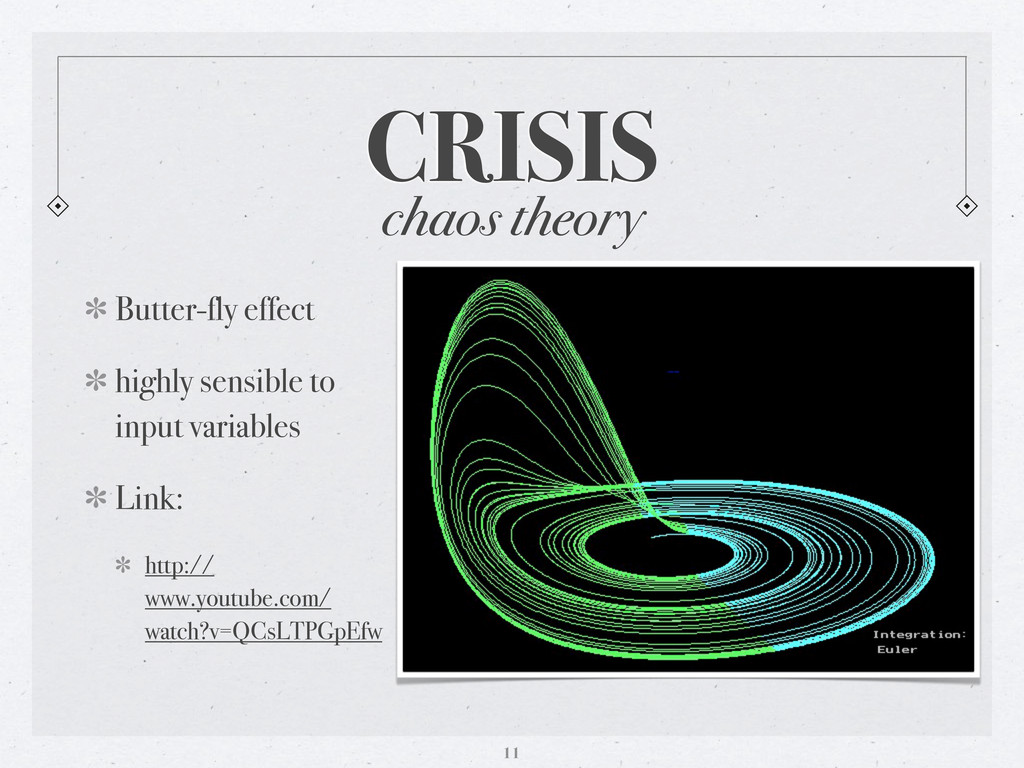 CRISIS 11 chaos theory Butter-fly effect highly...