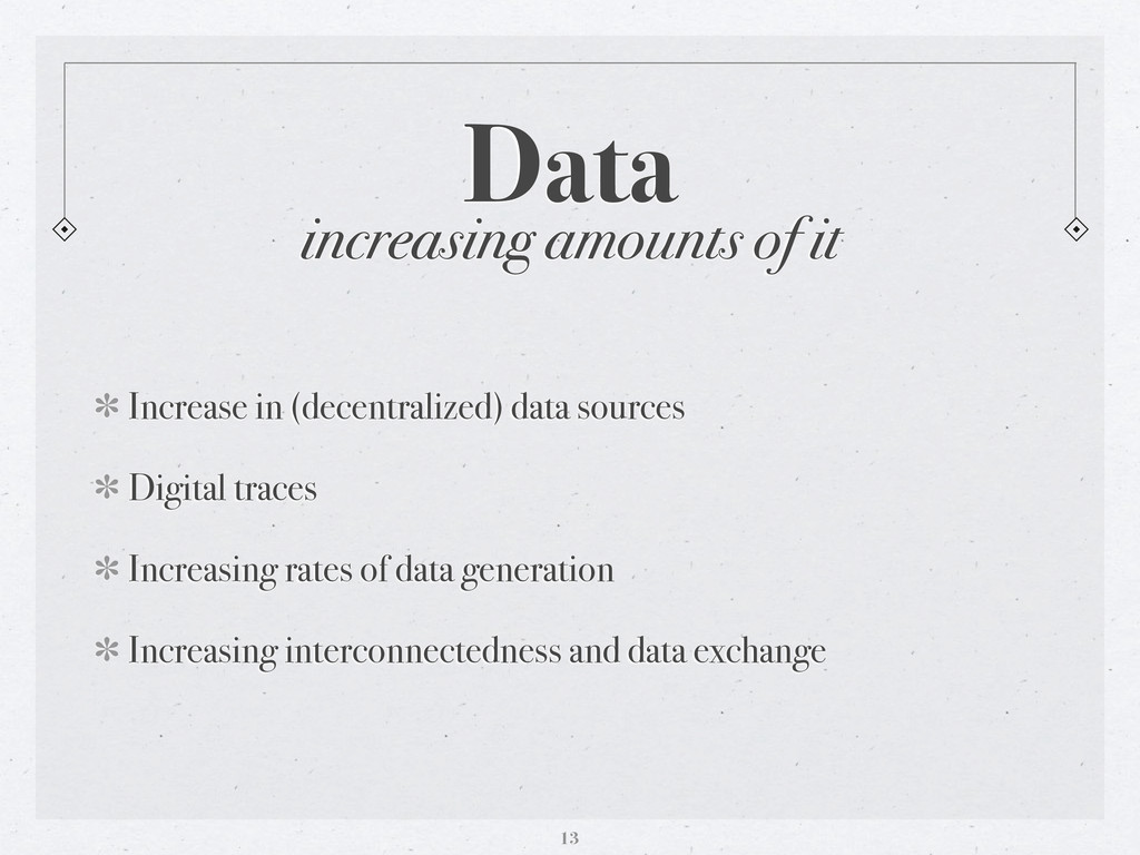 Data Increase in (decentralized) data sources D...