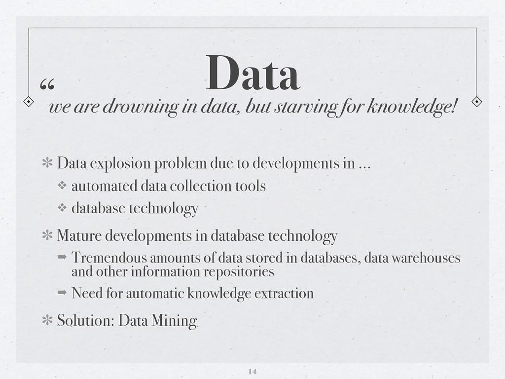 Data Data explosion problem due to developments...
