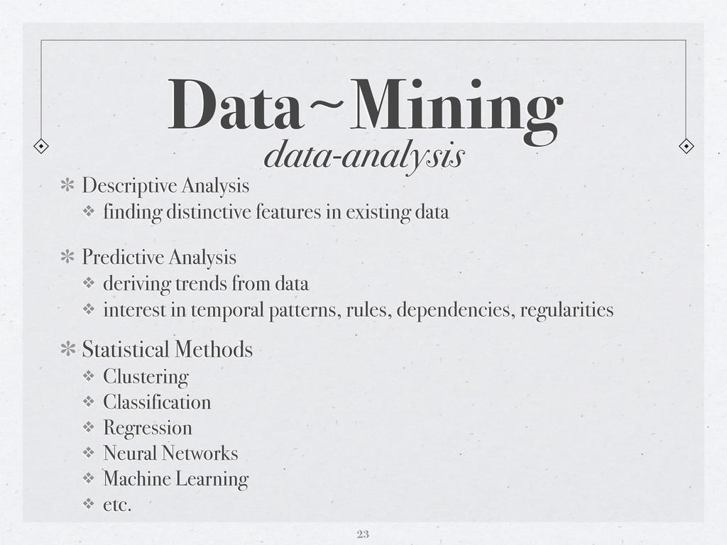 data-analysis Data〜~Mining Descriptive Analysis...