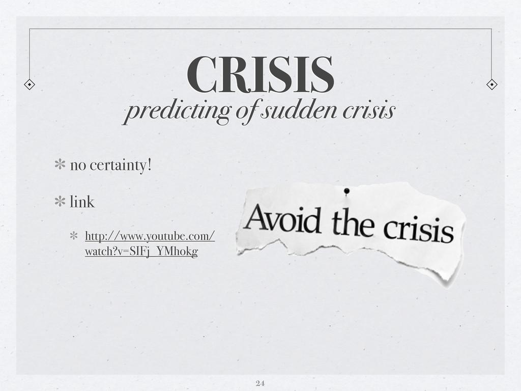 CRISIS 24 predicting of sudden crisis no certai...